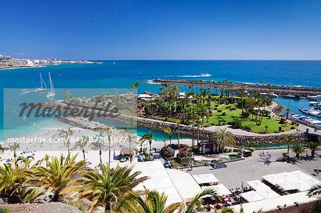 Aerial view of Anfi del Mar, Playa de la Verga, Gran Canaria, Canary islands, Spain, Atlantic, Europe