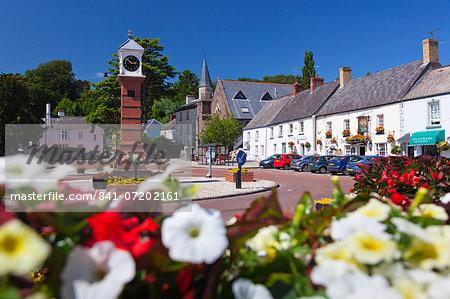 Usk Twyn Square, Usk, Monmouthshire, Wales, United Kingdom, Europe