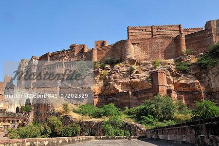 The Mehrangarh Fort of Jodhpur, Rajasthan, India, Asia