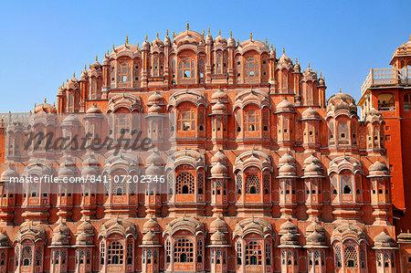 Hawa Mahal (Palace of Winds), built in 1799, Jaipur, Rajasthan, India, Asia