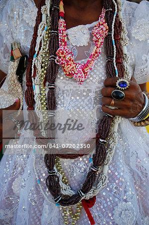 Ialorixa, Candomble priestess, Salvador, Bahia, Brazil, South America
