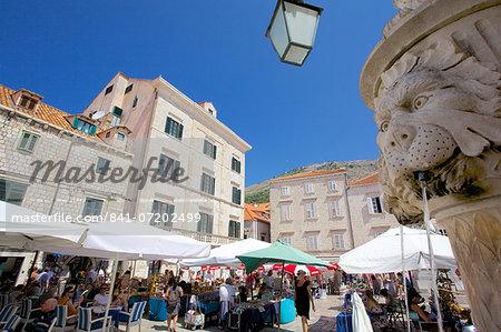 Market, Gunduliceeva Poljana, Dubrovnik, Dalmatia, Croatia, Europe