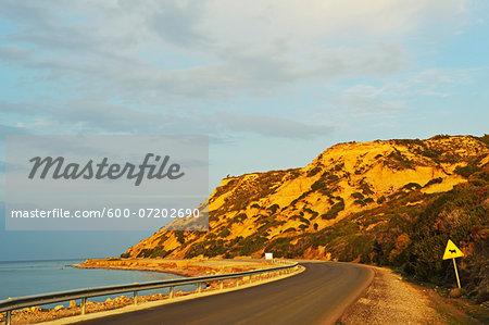 Coastal road, Rhodes, Dodecanese, Aegean See, Greece, Europe