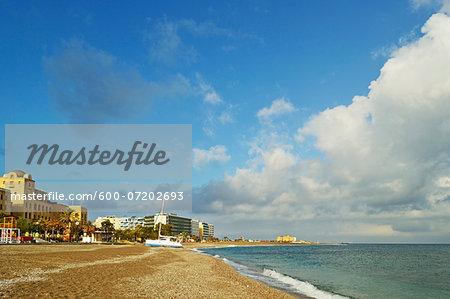 Rhodes City beach, Rhodes, Dodecanese, Aegean See, Greece, Europe