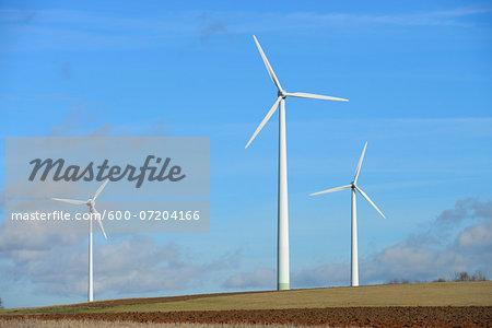 Wind Turbines, Hesse, Germany
