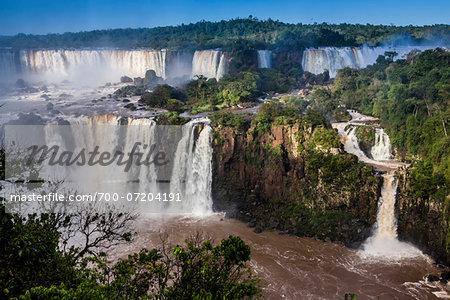Scenic view of Iguacu Falls, Iguacu National Park, Parana, Brazil