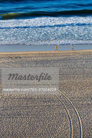 Copacabana Beach and ocean surf, Rio de Janeiro, Brazil
