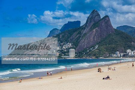 Scenic view of Ipanema Beach, Rio de Janeiro, Brazil