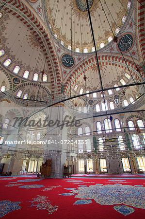 Interior, Fatih Mosque, Istanbul, Turkey, Europe
