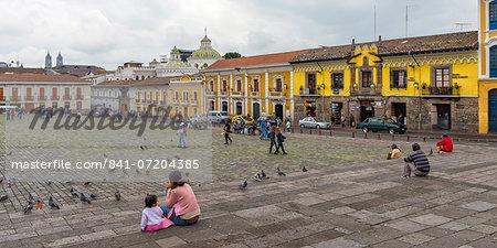 San Francisco Square, Quito Historical center, Quito, UNESCO World Heritage Site, Pichincha Province, Ecuador, South America