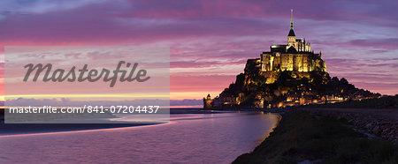 Mont Saint Michel, UNESCO World Heritage Site, Manche, Basse Normandy, France, Europe