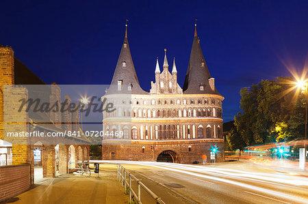 Holstentor, Lubeck, Schleswig Holstein, Germany, Europe