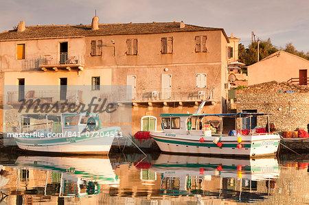 Fishing boat, Centuri Port, Corsica, France, Mediterranean, Europe