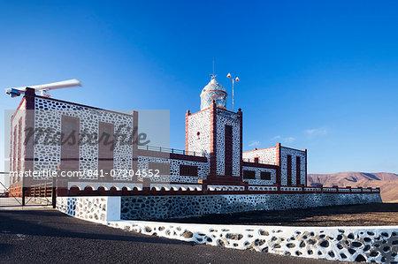 Lighthouse of Faro de la Entallada at Punta de la Entallada, Fuerteventura, Canary Islands, Spain, Europe