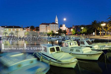 Boats in the harbour of Supertar, Brac Island, Dalmatia, Croatia, Europe