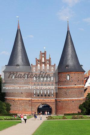Holstentor gate, Lubeck, UNESCO World Heritage Site, Schleswig Holstein, Germany, Europe