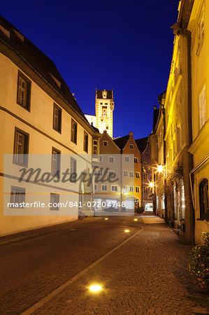 Old town with Hohes Schloss Castle, Fussen, Ostallgau, Allgau, Bavaria, Germany, Europe