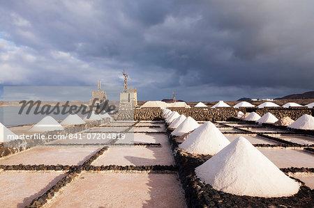 Salinas de Janubio, Lanzarote, Canary Islands, Spain, Atlantic, Europe