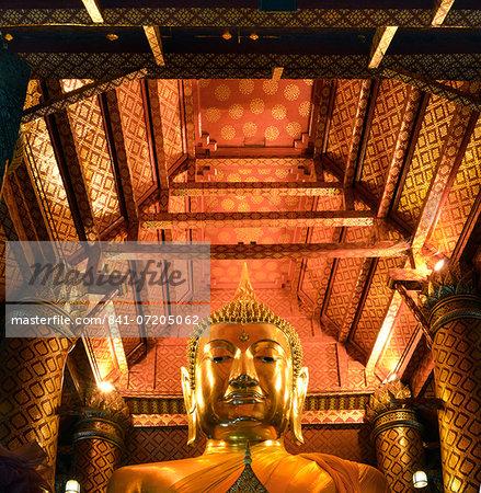 Ceiling of Wat Phanan Choeng, Ayutthaya, UNESCO World Heritage Site, Thailand, Southeast Asia, Asia
