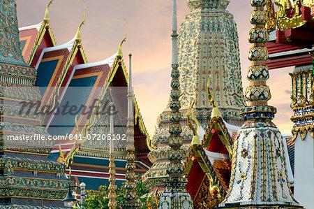 Wat Pho (Wat Phra Chetuphon), Bangkok, Thailand, Southeast Asia, Asia
