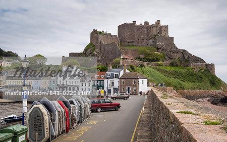 Gorey Castle (Mont Orgueil Castle) and Harbour, Jersey, Channel Islands, United Kingdom, Europe