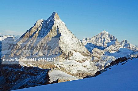 View of the Matterhorn, 4478m, Zermatt, Valais, Swiss Alps, Switzerland, Europe