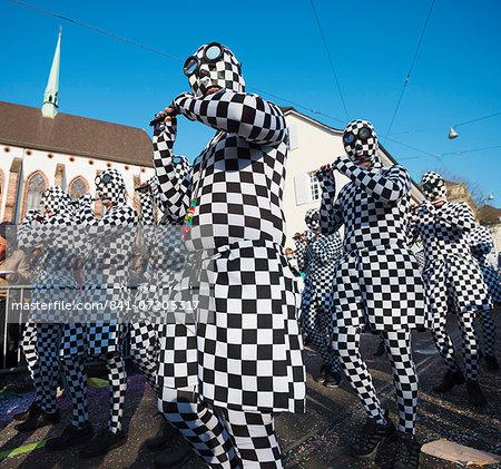 Fasnact spring carnival parade, Basel, Switzerland, Europe