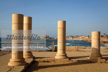 Herods Palace ruins, Caesarea, Israel, Middle East