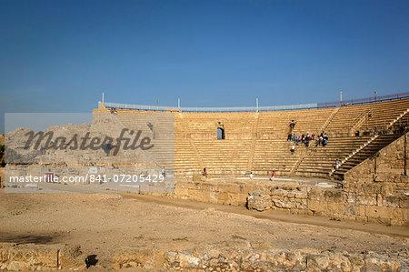 The Roman amphitheatre, Caesarea, Israel, Middle East
