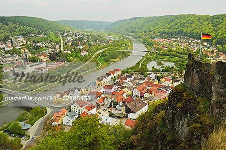 View of Riedenburg, Altmuehl Valley, Bavaria, Germany, Europe