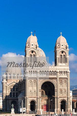 Cathedral of Marseille (Notre-Dame de la Major) (Sainte-Marie-Majeure), Marseille, Bouches du Rhone, Provence-Alpes-Cote-d'Azur, France, Europe