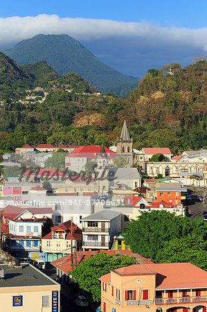 Downtown Roseau, Dominica, Windward Islands, West Indies, Caribbean, Central America