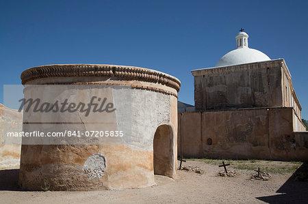 Mortuary chapel and graves, San Jose de Tumacacori Mission, established in 1691, Tumacacori National Historic Park, New Mexico, United States of America, North America
