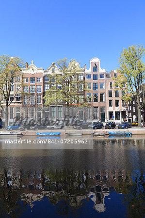Singel Canal, Amsterdam, Netherlands, Europe