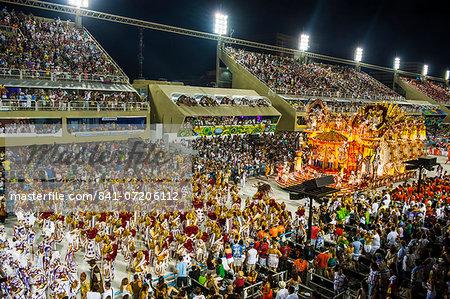 Samba Parade at the Carnival in Rio de Janeiro, Brazil, South America