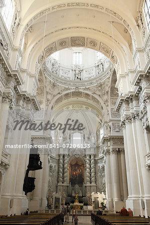 Late Baroque style altar, St. Kajetan Church (Theatinerkirche) (Theatiner Church), Odeonsplatz, Munich, Bavaria, Germany, Europe