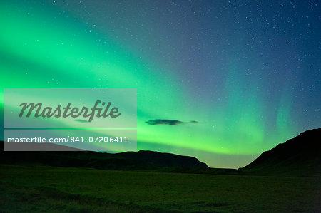 The Northern Lights (Aurora Borealis), Vik, Iceland, Polar Regions
