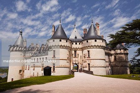 The renaissance chateau at Chaumont-sur-Loire, UNESCO World Heritage Site, Loire Valley, Loir-et-Cher, Centre, France, Europe