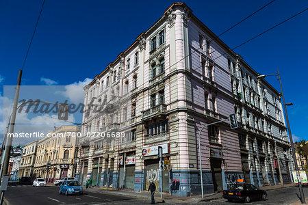 Buildings and Street Scene, Valparaiso, Chile