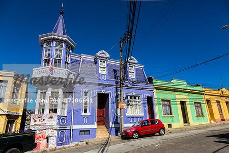 Colourful Houses, Valparaiso, Chile
