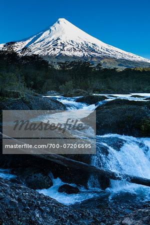 Osorno Volcano, Petrohue Waterfalls, Parque Nacional Vicente Perez Rosales, Patagonia, Chile