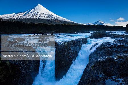 Osorno Volcano and Petrohue Waterfalls, Parque Nacional Vicente Perez Rosales, Patagonia, Chile