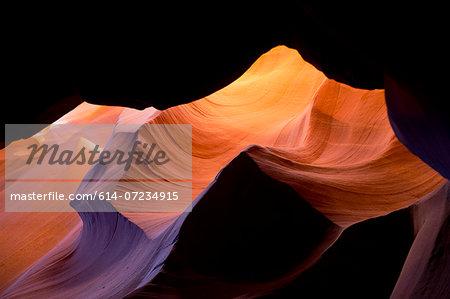 Eroded sandstone cave formation, Antelope Canyon, Page Arizona, USA