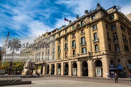 Plaza de Armas, Compania de Jesus Street, Santiago, Chile