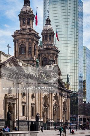 Catedral Metropolitana, Plaza de Armas, Santiago, Chile