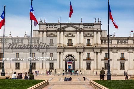 Palacio de La Moneda and Plaza de la Constitucion, Santiago, Chile