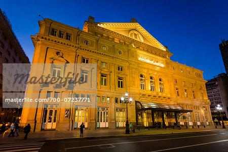 Teatro Colon in Evening, Buenos Aires, Argentina