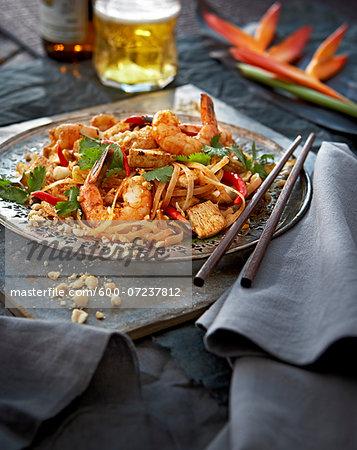 Pad Thai with Shrimp, Studio Shot