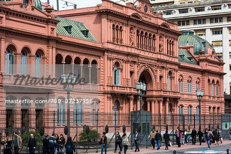 Casa Rosada, the Presidential Palace in Plaza de Mayo, Buenos Aires, Argentina
