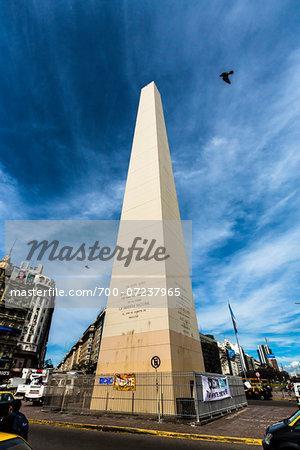 Obelisk (El Obelisco), Obelisk Square, Plaza de la Republica, Buenos Aires, Argentina